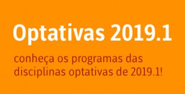 Banner do destaque sobre Optativas 2019-1